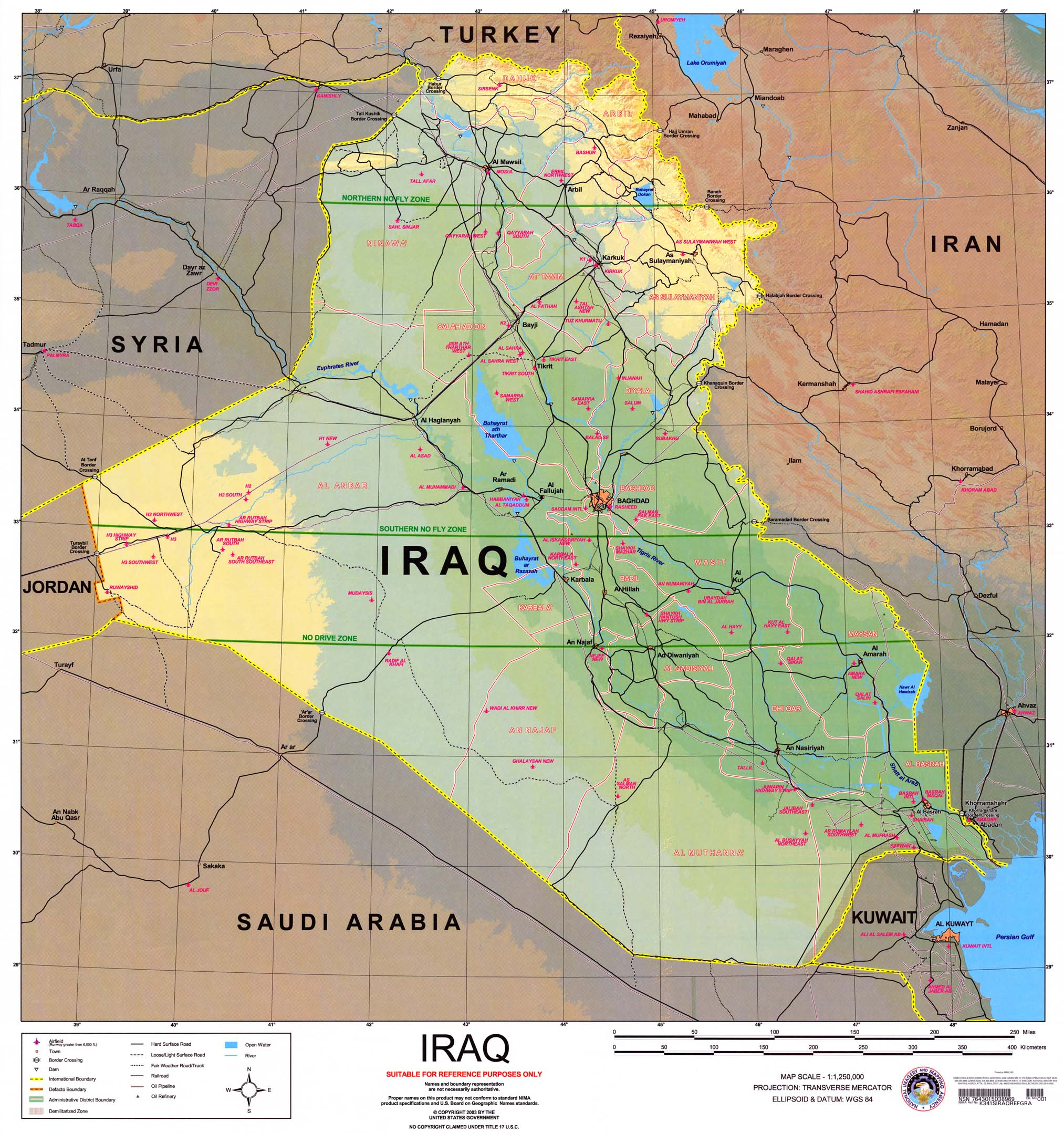 Iraq Maps - Perry-Castañeda Map Collection - Ut Library Online - Free Printable Satellite Maps