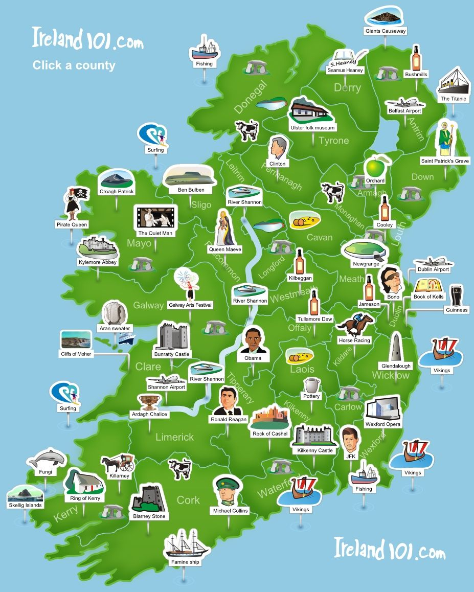 Ireland 101 - Map Of Ireland. Super Simplistic But Easy To Use At A - Printable Map Of Ireland And Scotland