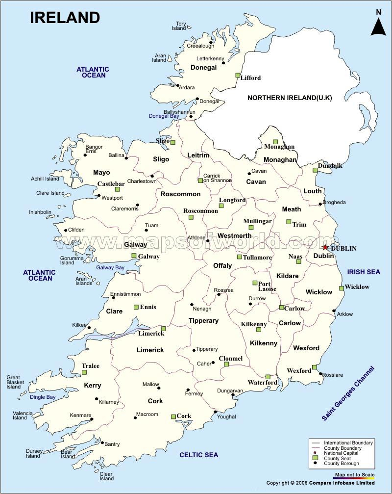 Ireland Maps | Printable Maps Of Ireland For Download - Large Printable Map Of Ireland