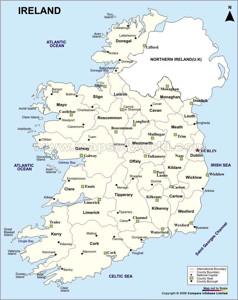 Ireland Maps | Printable Maps Of Ireland For Download - Printable Black And White Map Of Ireland