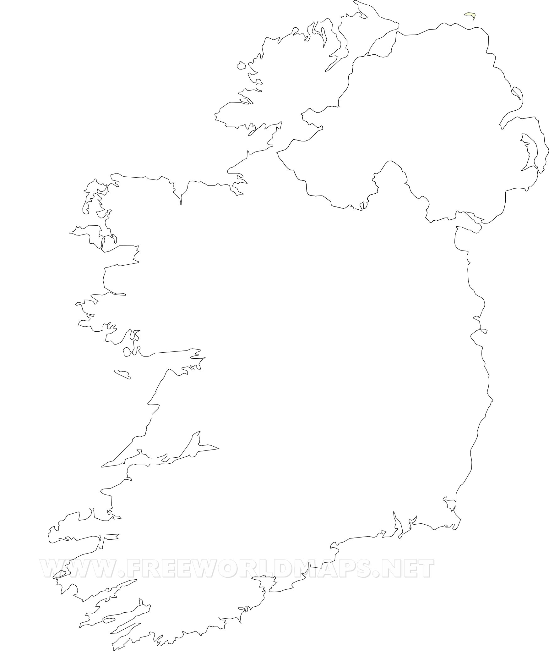 Ireland Political Map - Printable Black And White Map Of Ireland