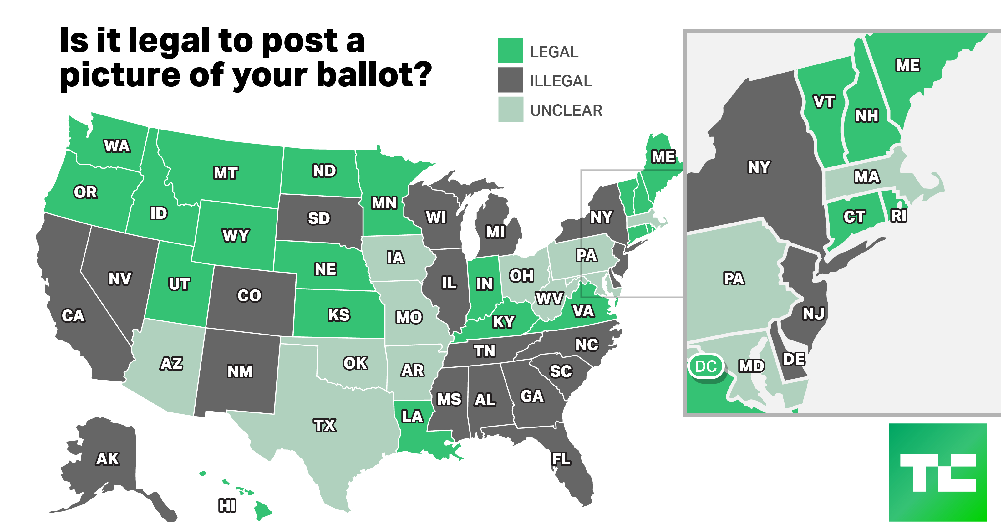 Is It Legal To Post A 'votie' In Your State? Check This Map | Techcrunch - Megan's Law California Map
