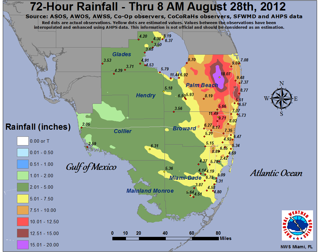 Isaac - Florida Flood Zone Map