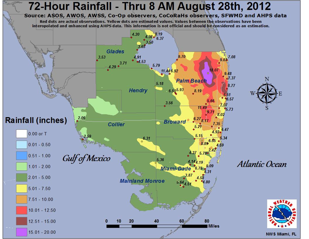Isaac - Naples Florida Flood Map