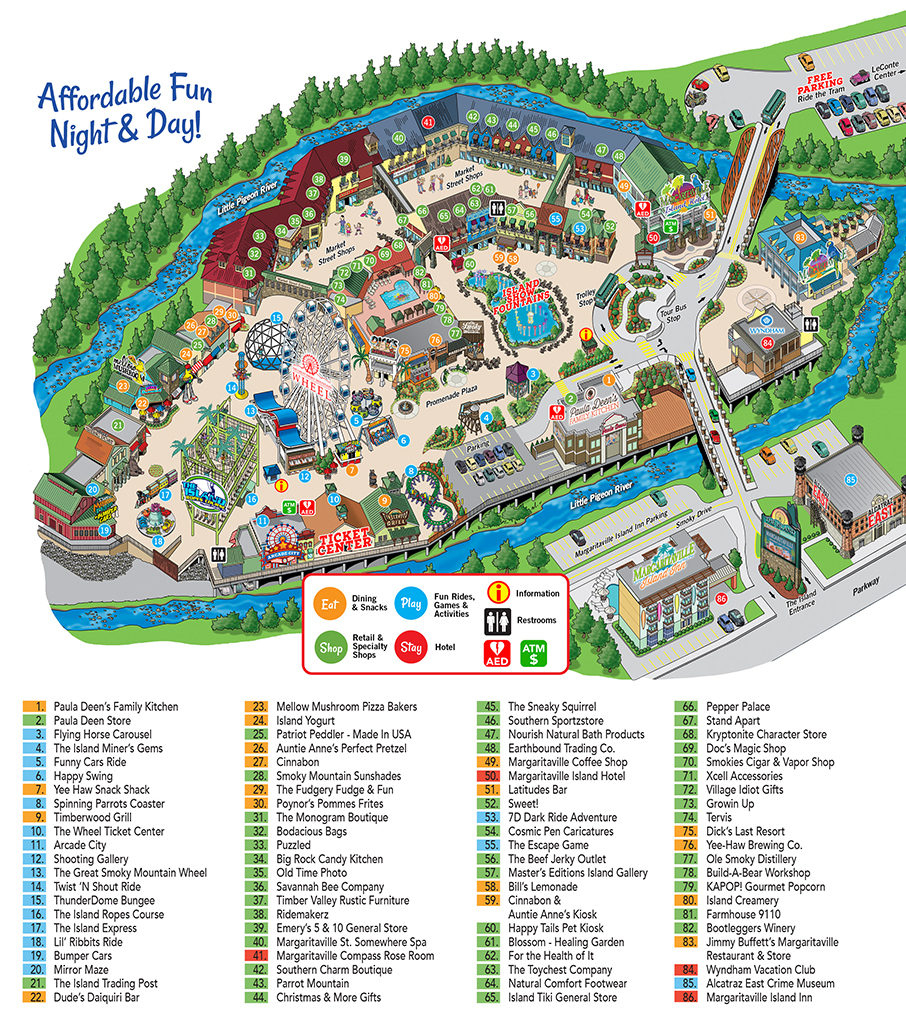 Island In Pigeon Forge Map - The Island At Pigeon Forge - Printable Map Of Pigeon Forge Tn