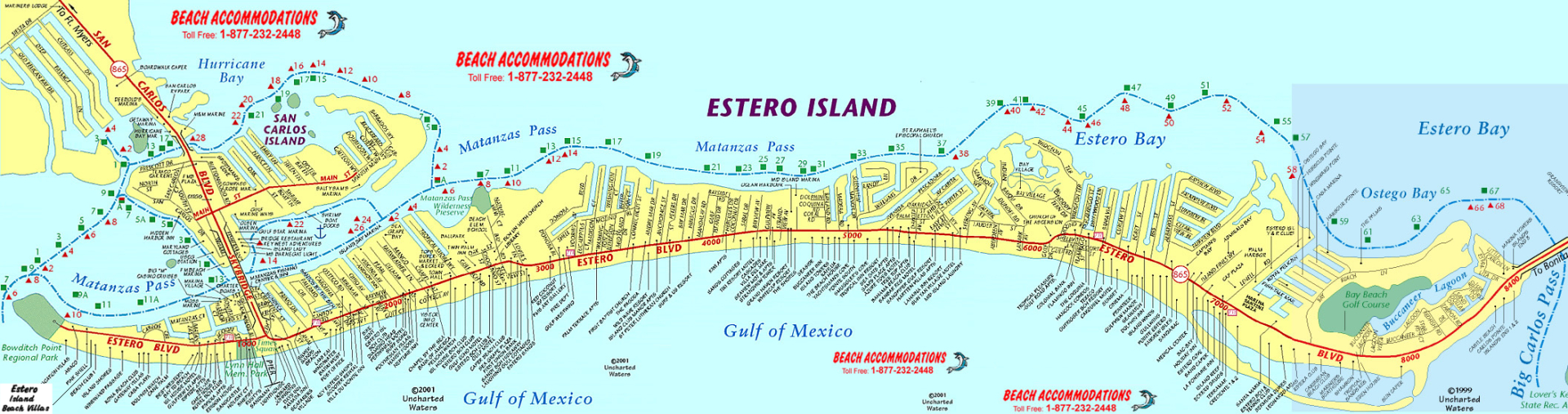 Island Map & Weather | Beach Accommodations Vacation Rentals | Fort - Map Of Southwest Florida Beaches