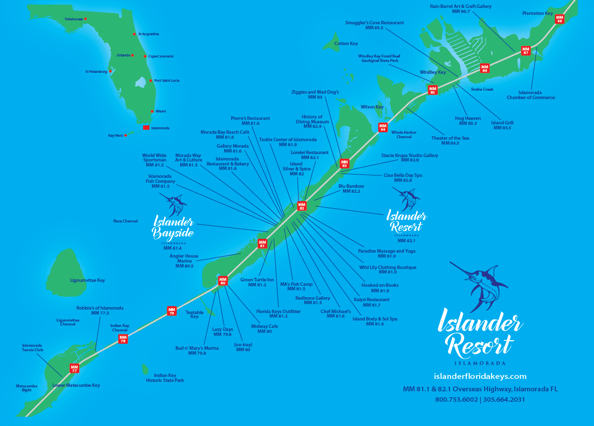 Islander Resort | Islamorada, Florida Keys - Florida Keys Map With Mile Markers