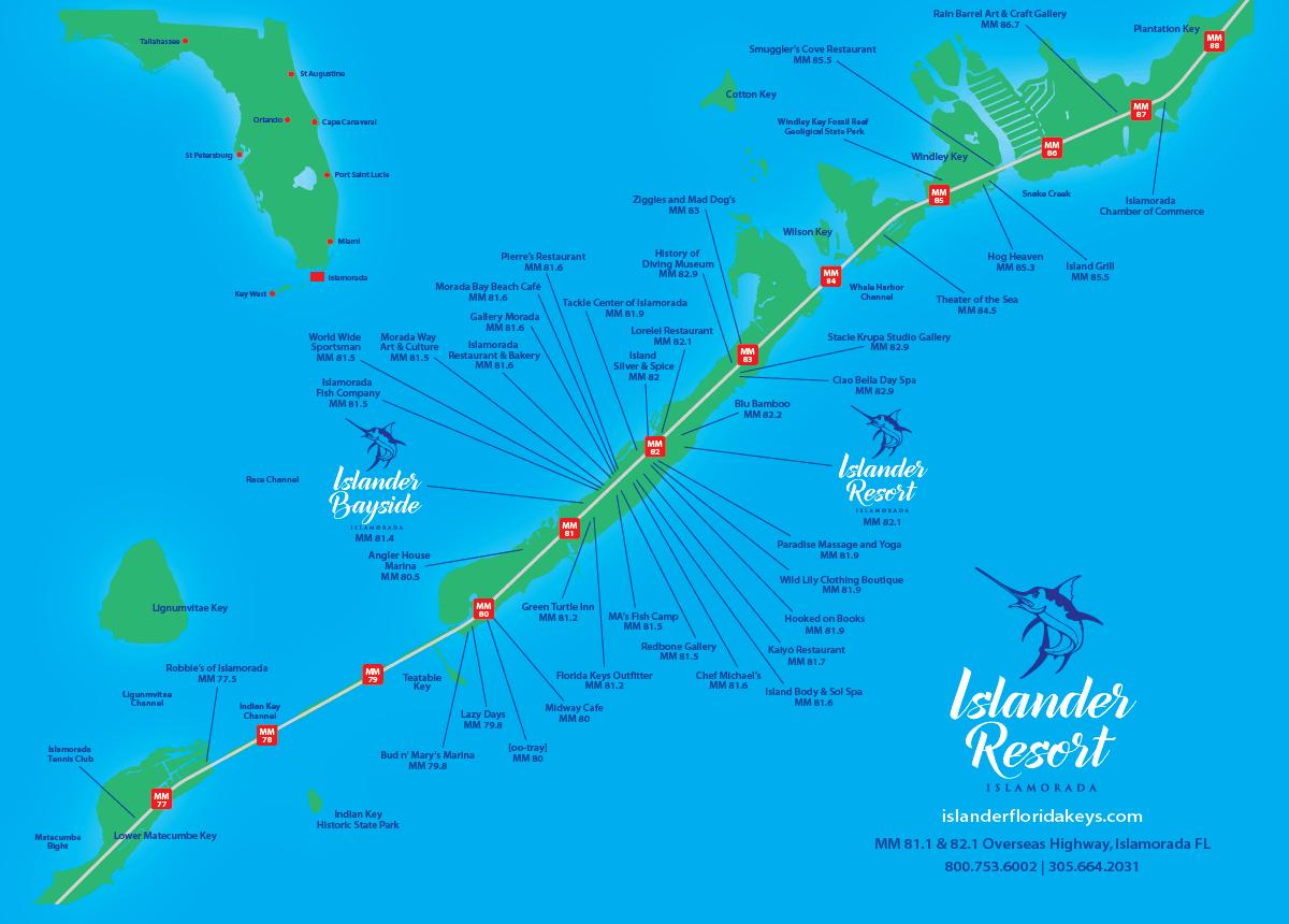 Islander Resort | Islamorada, Florida Keys - Map Of Florida Keys Resorts