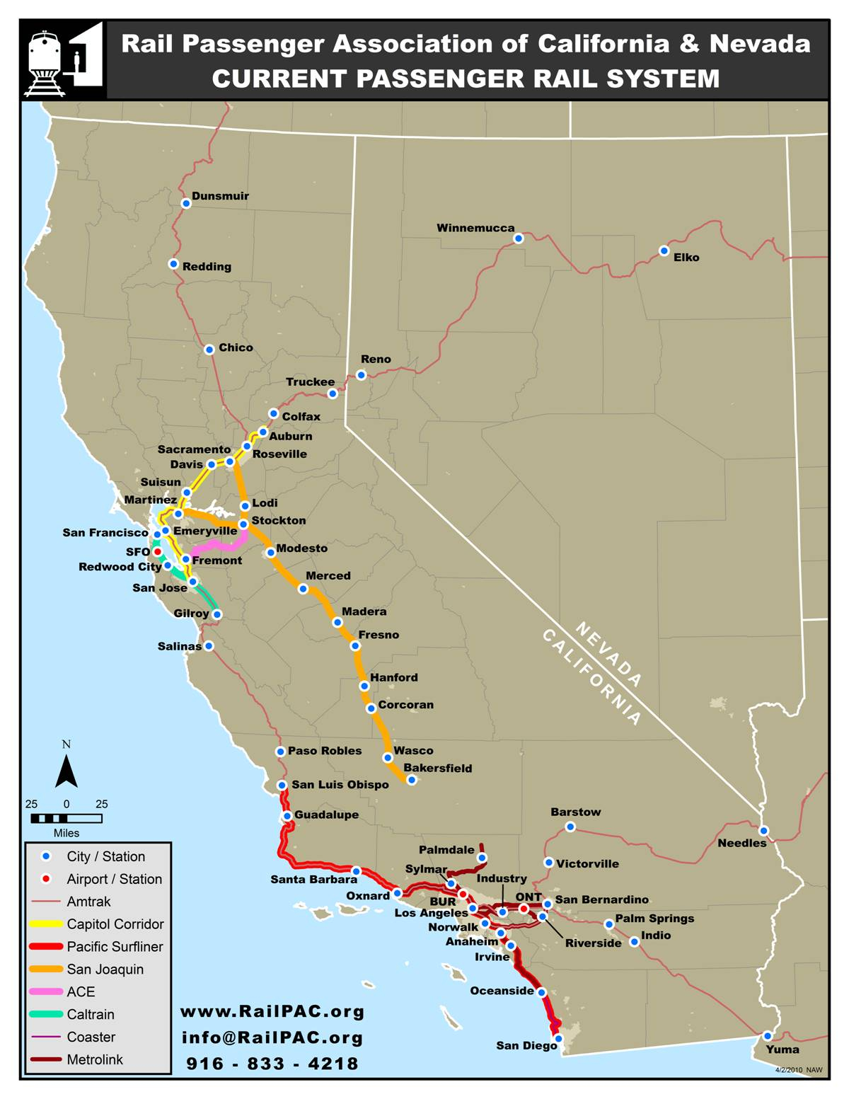 Issues California River Map Amtrak Southern California Map - Amtrak Map California