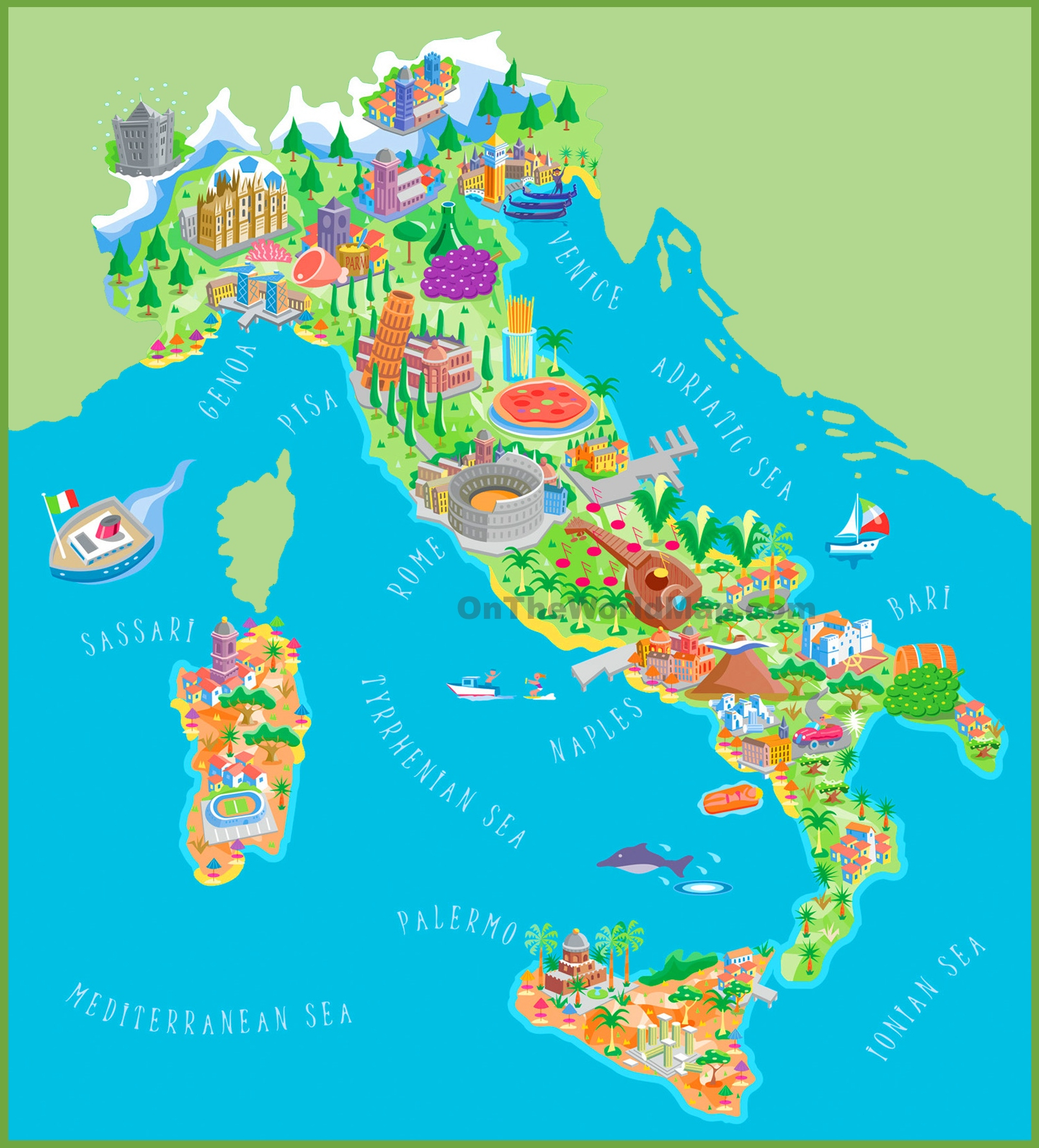 Italy Maps | Maps Of Italy - Printable Map Of Italy To Color