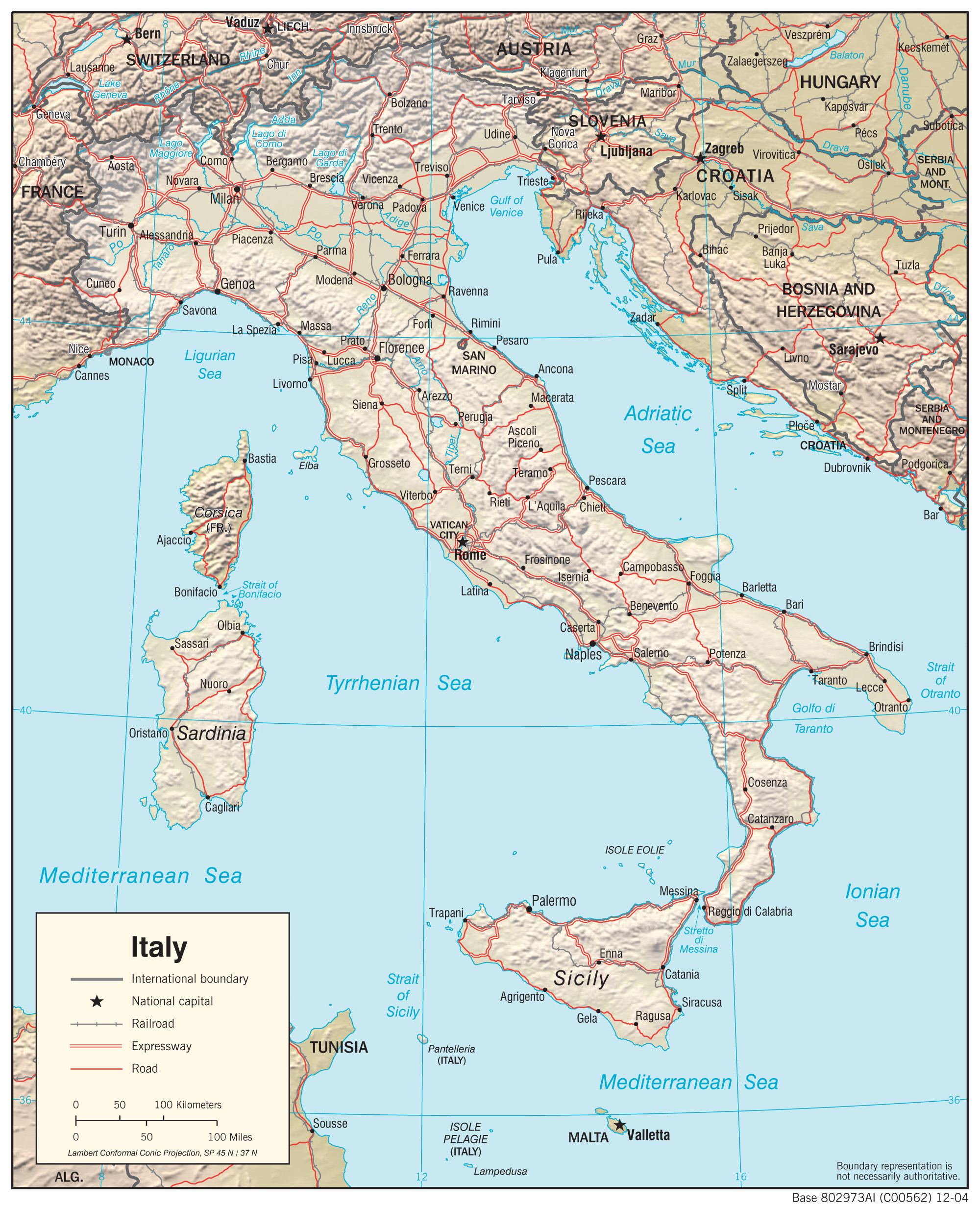 Italy Maps - Perry-Castañeda Map Collection - Ut Library Online - Italy Texas Map