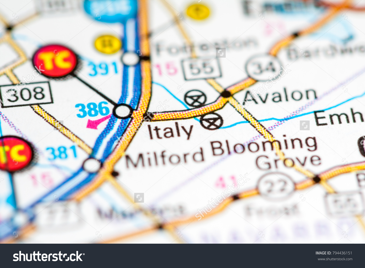 Italy Texas Usa On Map Stock Photo (Edit Now) 794436151 - Shutterstock - Italy Texas Map