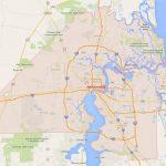 Jacksonville, Florida Map   Google Maps Weston Florida