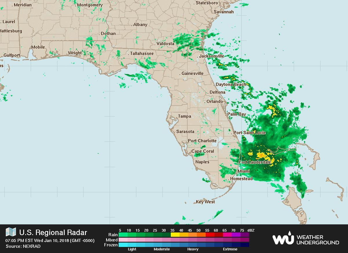 Jacksonville Radar Map - Map Of Jacksonville Radar (Florida - Usa) - Florida Radar Map