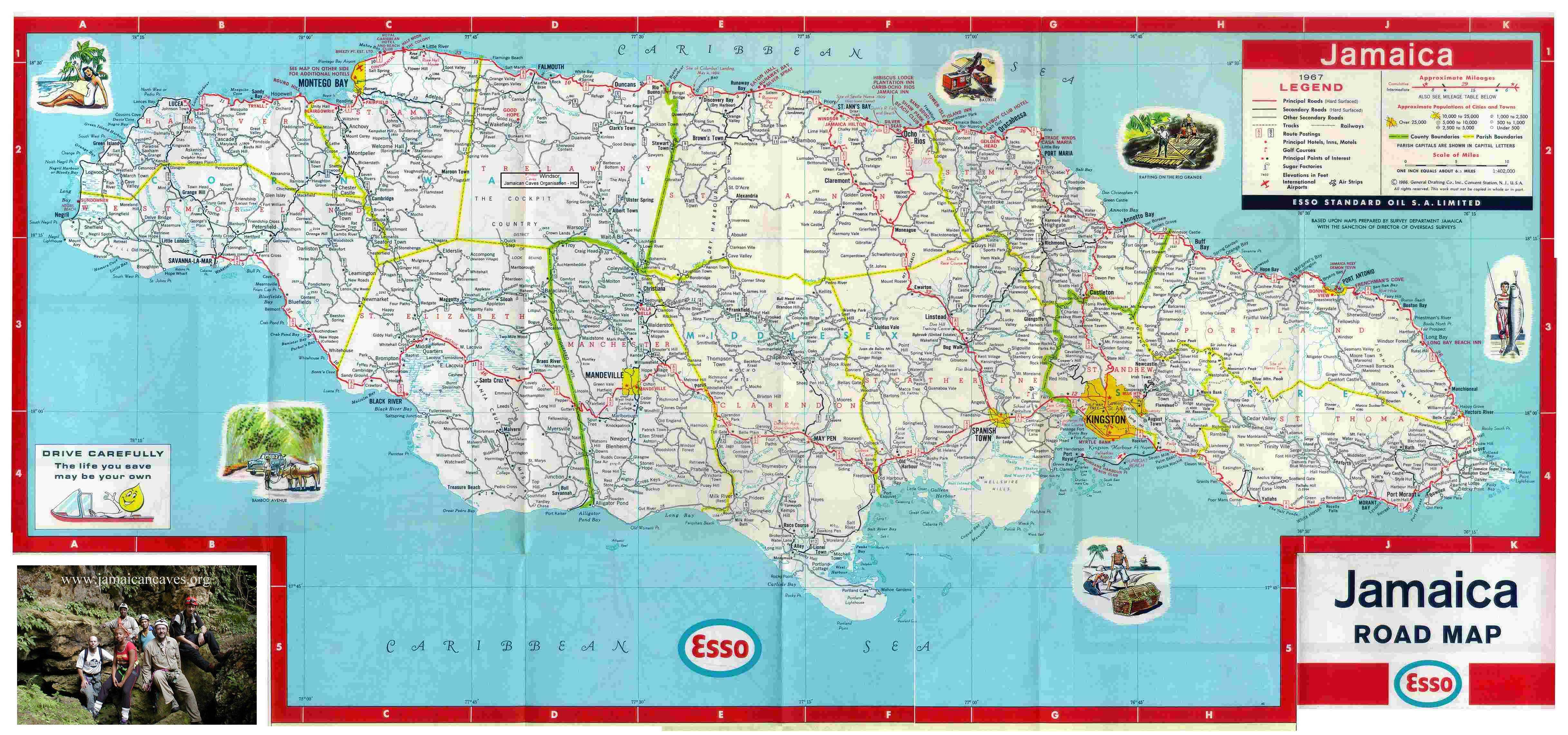 Jamaica Road Map, Free Jamaican Road Maps Online - Free Printable Driving Maps