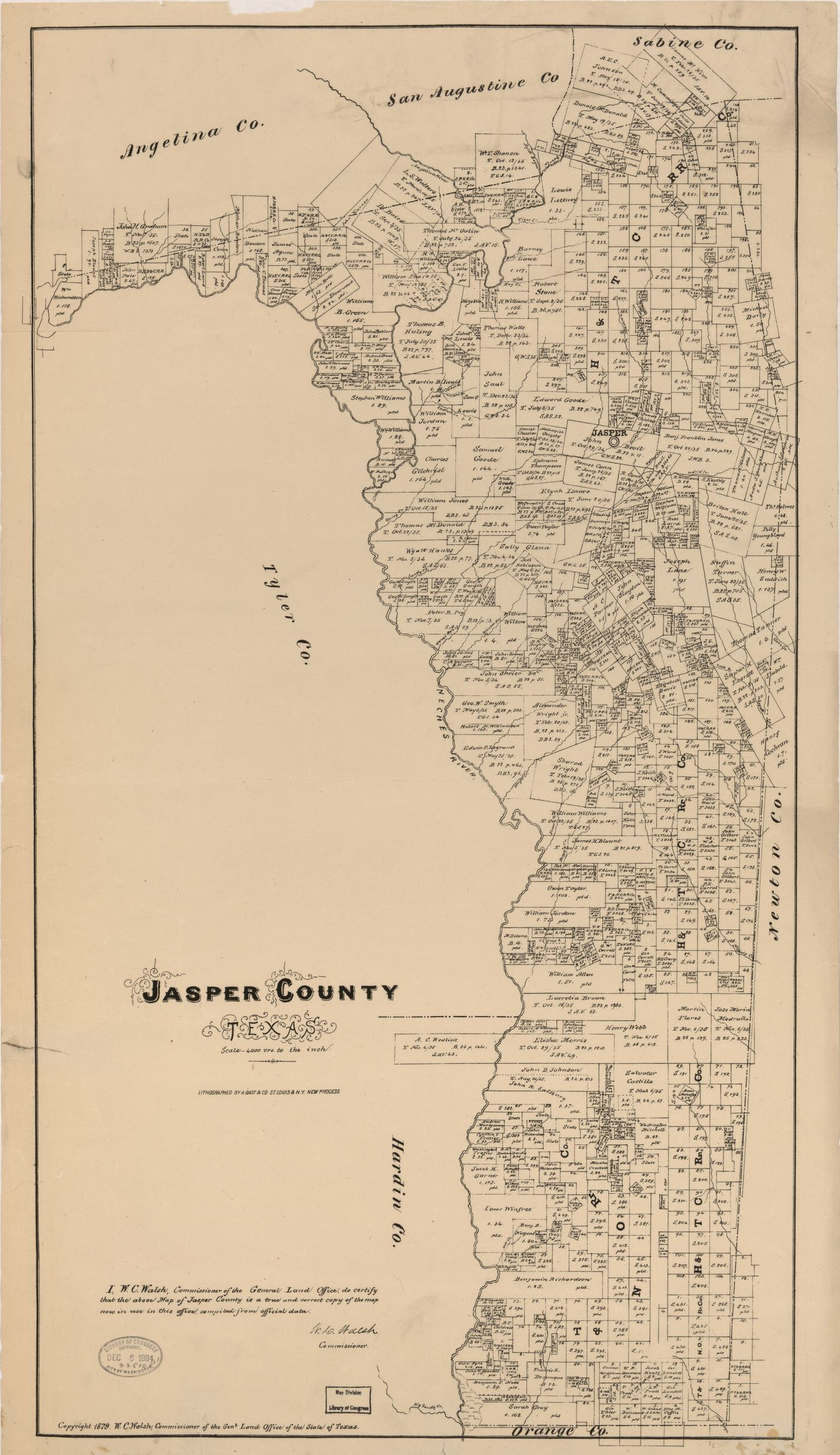 Jasper County, Texas. | Library Of Congress - Jasper County Texas Parcel Map
