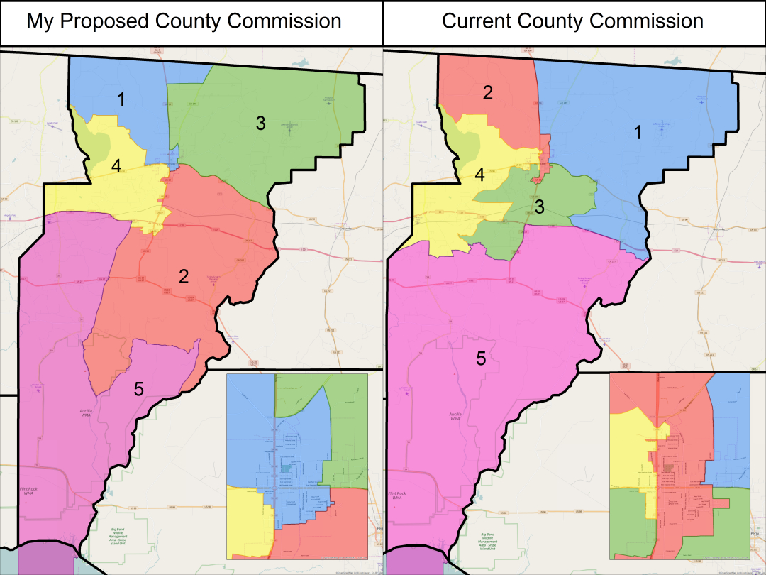 Jefferson County Commission And School Board Districts - Florida School Districts Map
