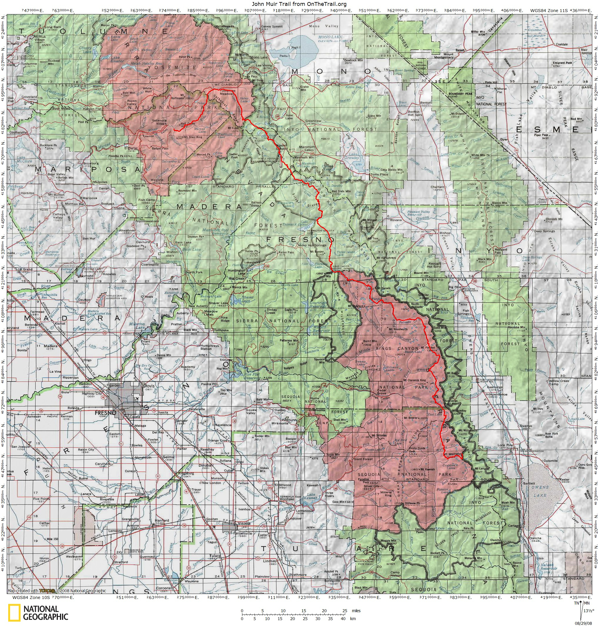 Jmt Topo Maps | Onthetrail - On The Trail Guide To The Outdoors - Free Printable Topo Maps Online