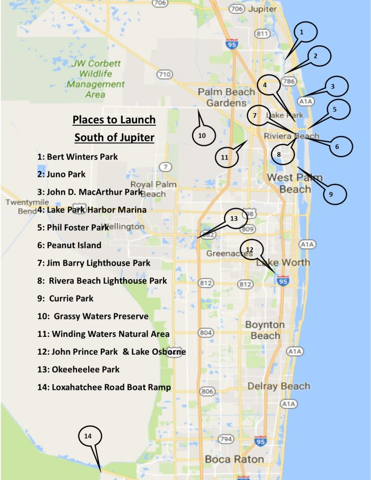picture about Printable Florida Map called jupiter beach front florida map Printable Maps