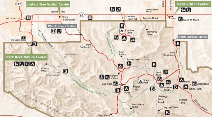 California Hiking Trails Map