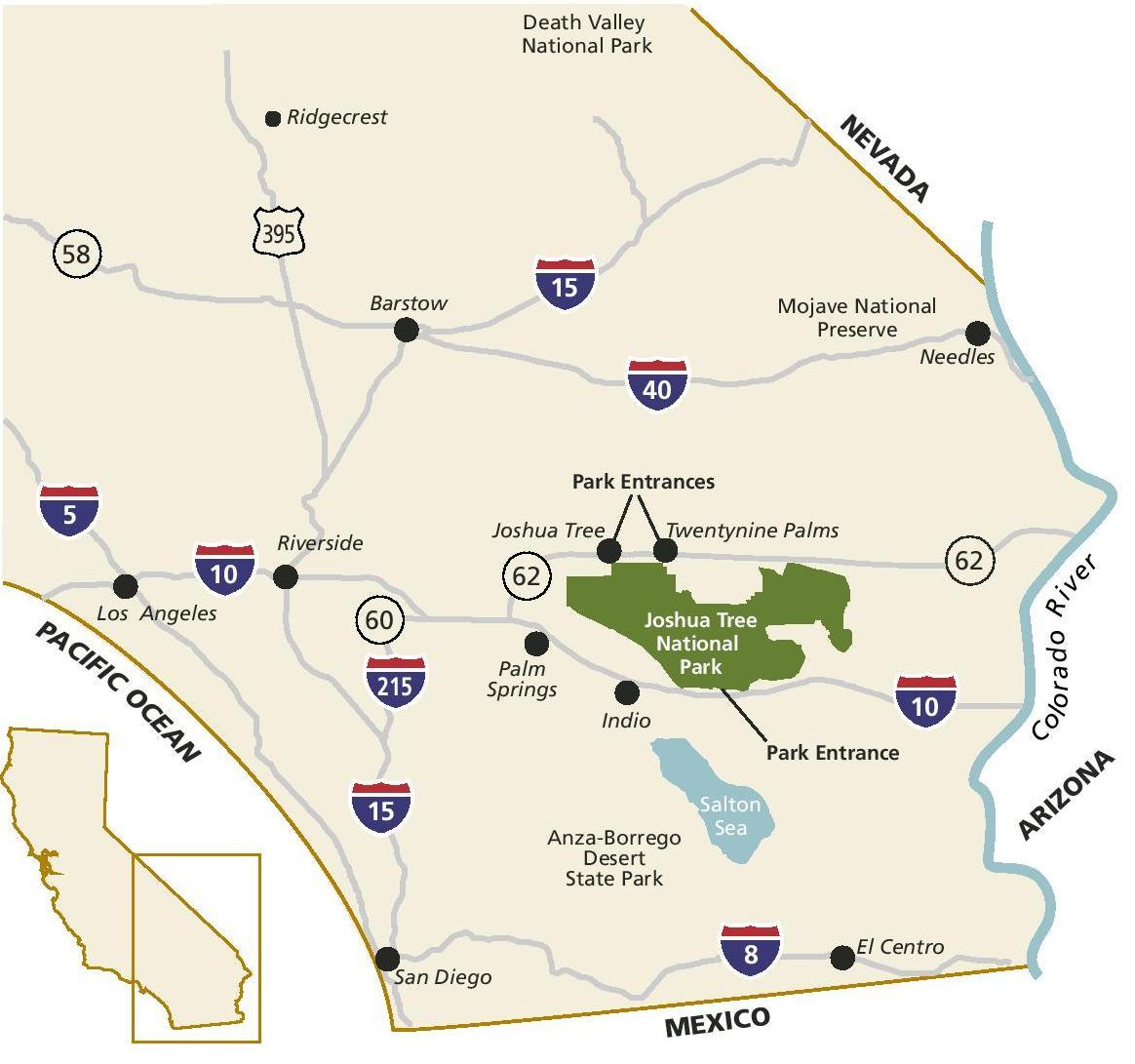 Joshua Tree California Map - Kaiser Permanente Locations In California Map