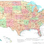 Jpg Freeuse Download Map Of United States With Interstates   Rr   Free Printable Road Maps Of The United States