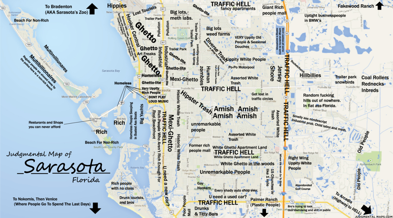 Judgmental Maps — Sarasota, Fltony Copr. 2014 Tony. All Rights - Sarasota Florida Map
