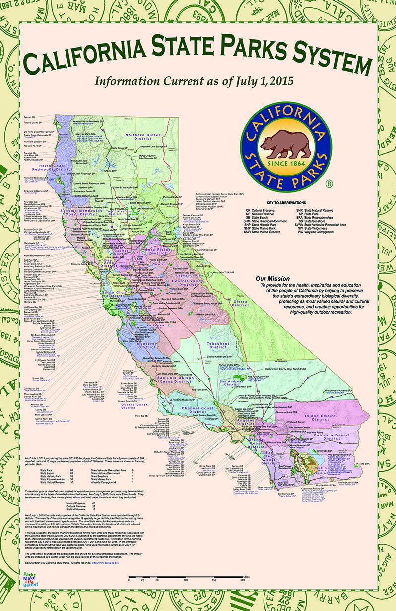 July 1, 2015 Map | Education | Pinterest | Camping, Camping Hacks - California National Parks Map