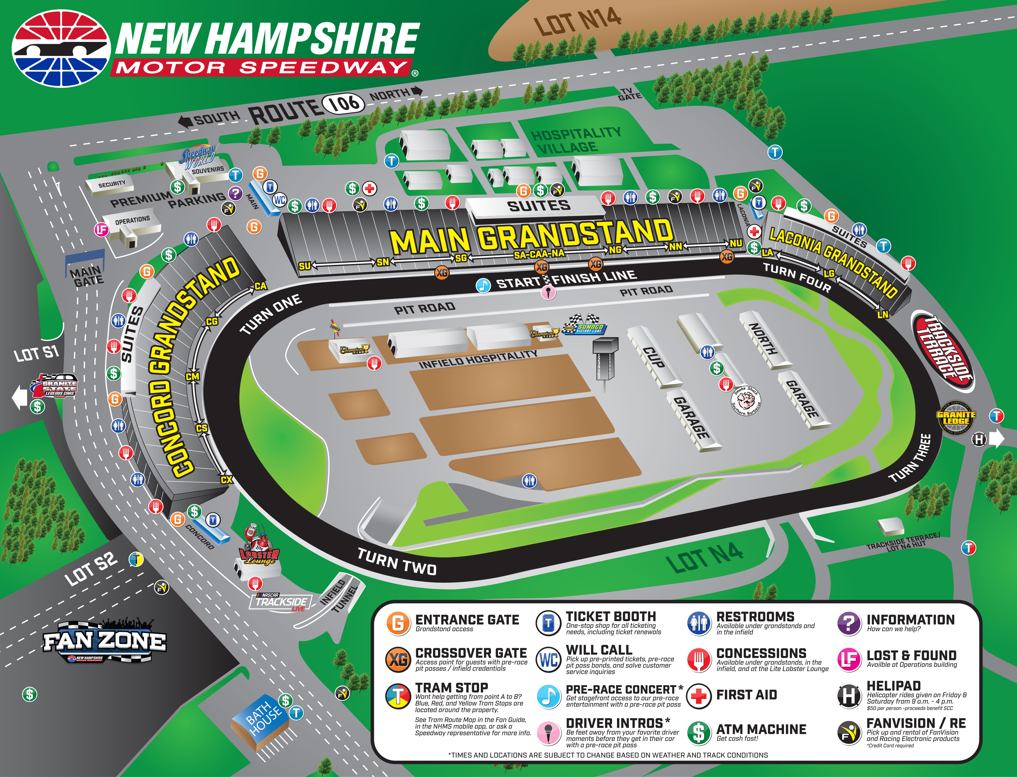 July Facility Map   Trip Planner   Nhms - Texas Motor Speedway Map
