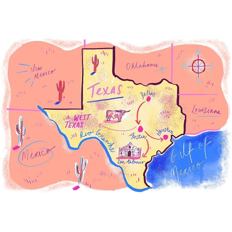 Julyarts Texas Map Metal Cutting Dies For Card Scrapbooking Craft - Texas Map Store Coupon