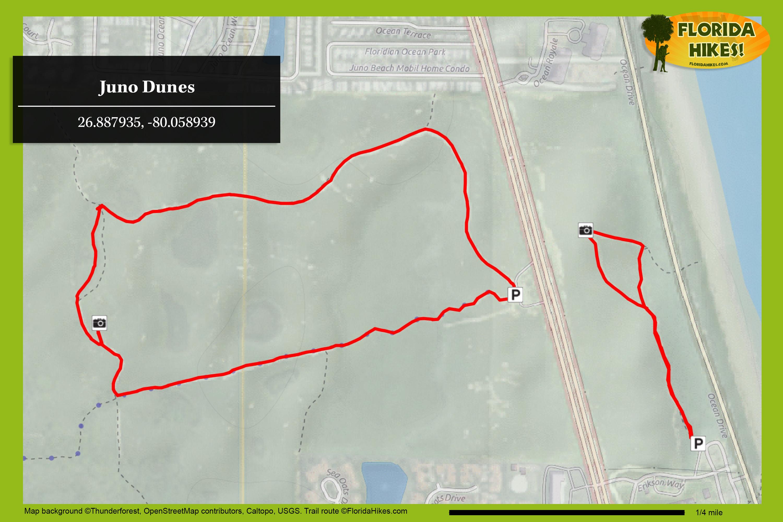 Juno Dunes Natural Area | Florida Hikes! - Juno Beach Florida Map