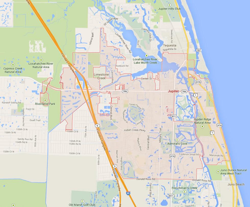 Jupiter Florida Map - Google Maps Jupiter Florida
