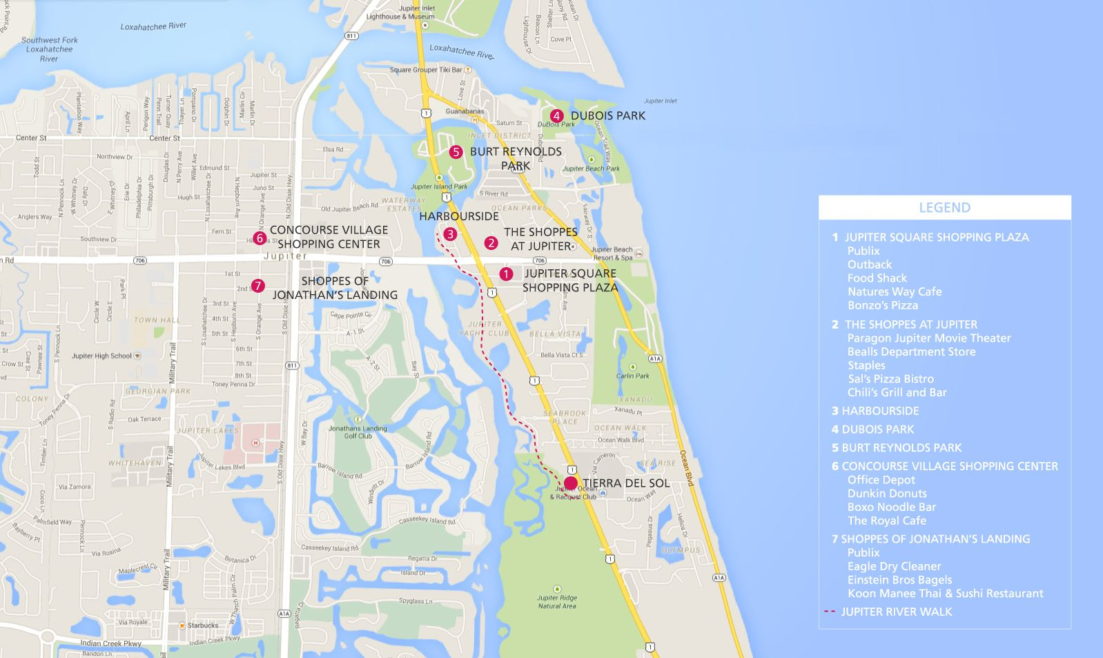 Jupiter Florida Map - Tierra Del Sol - Jupiter Homes For Sale - Abacoa Florida Map