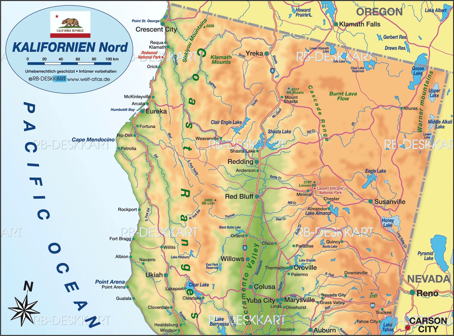 Karte Printable Map Of Mount Shasta California Map - Klipy - Mount Shasta California Map