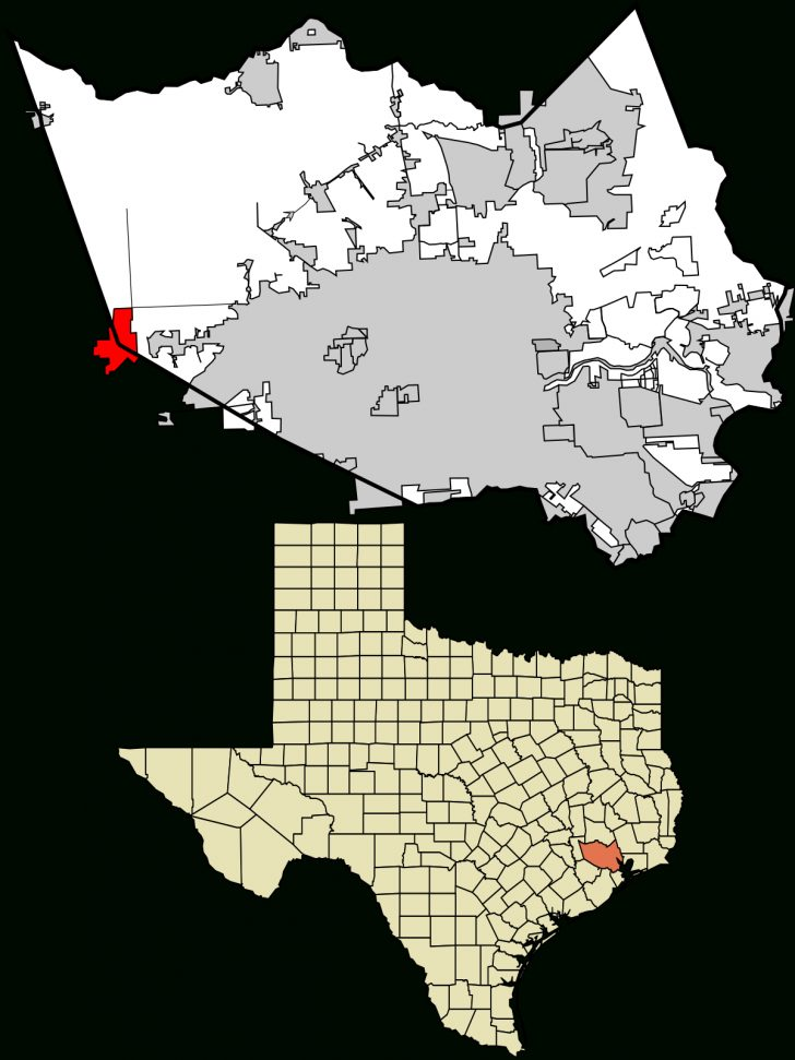 Harris County Texas Map