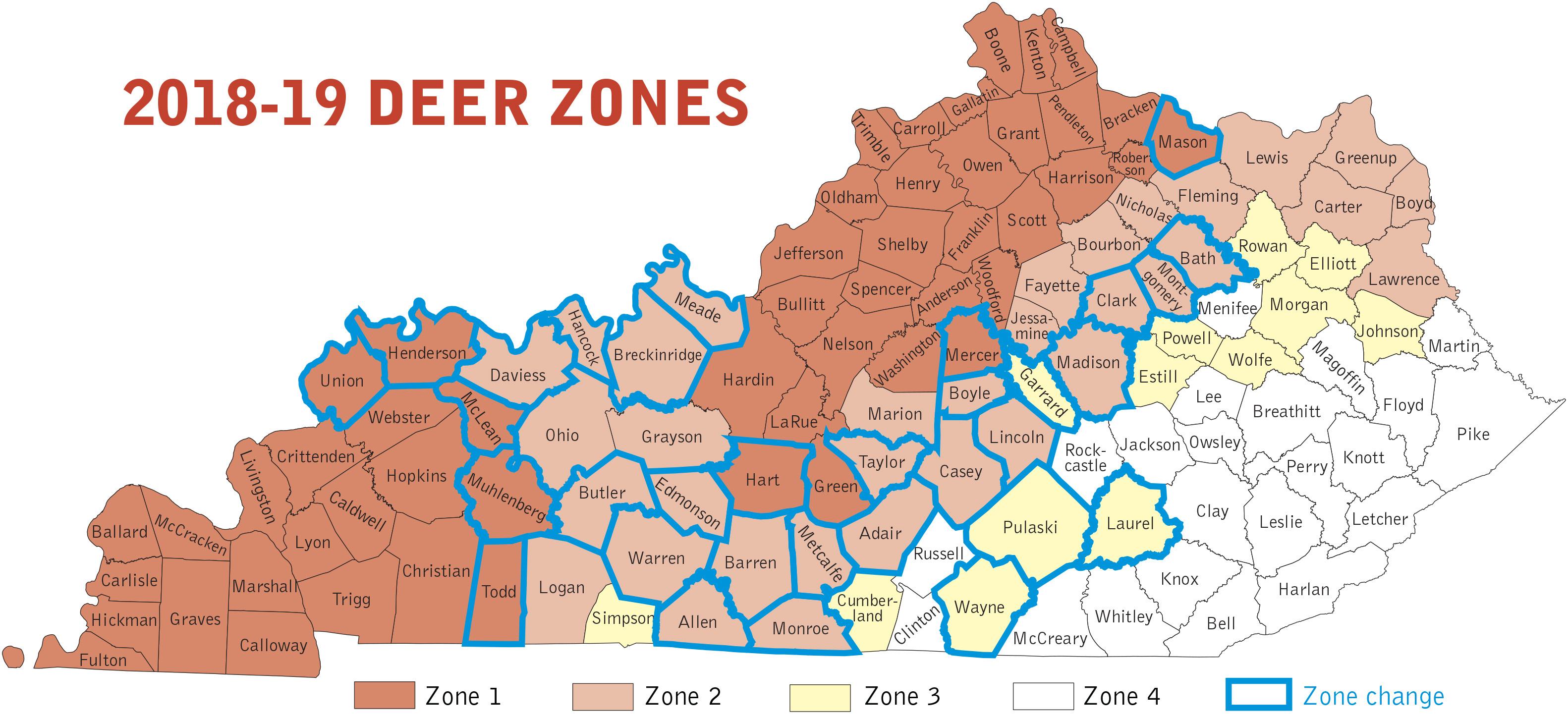 Kentucky Department Of Fish & Wildlife Deer Hunting Regulations - Deer Rut Map Texas
