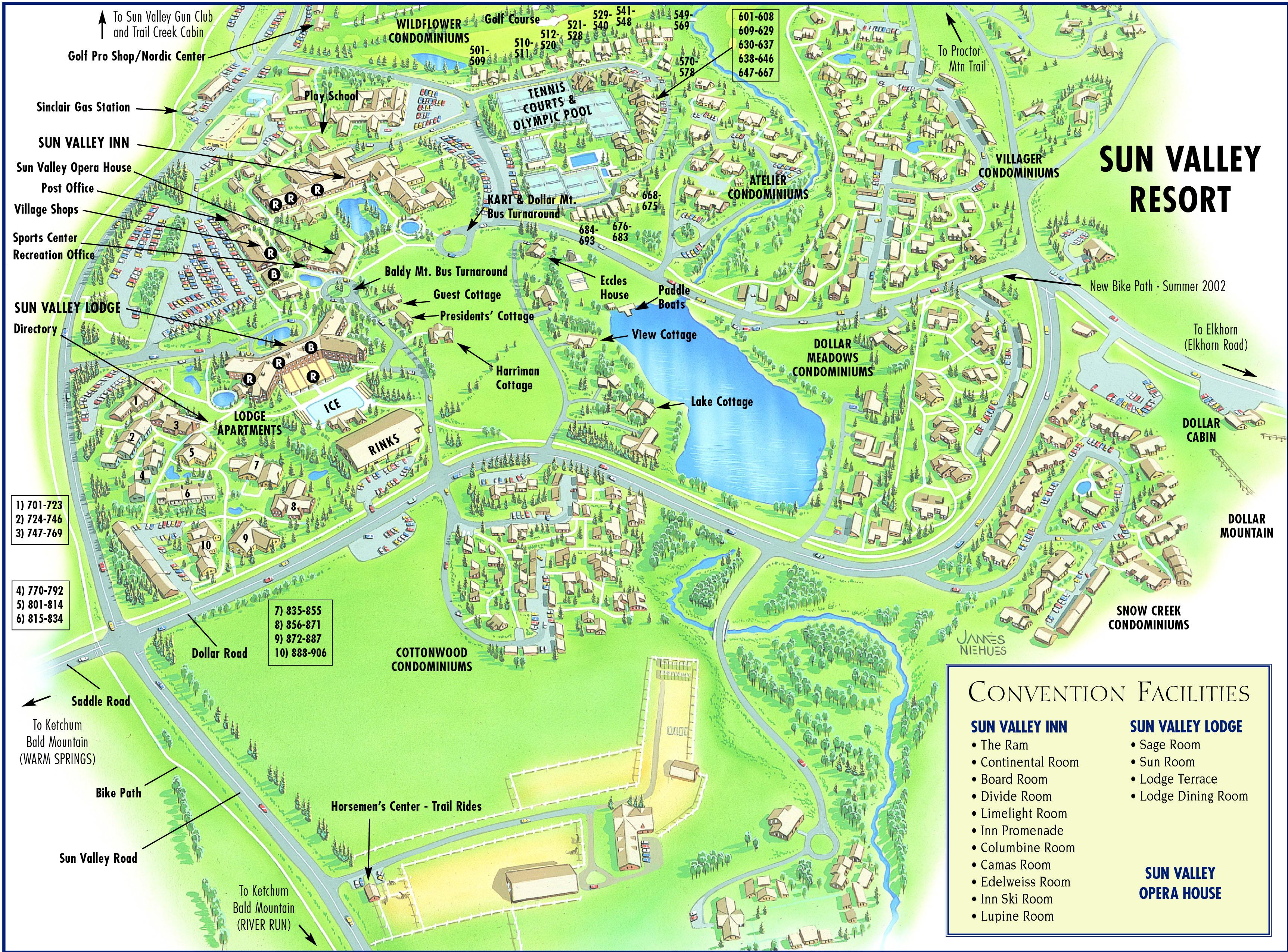 Ketchum - Sun Valley Area Maps | Visit Sun Valley - Sun City Texas Map