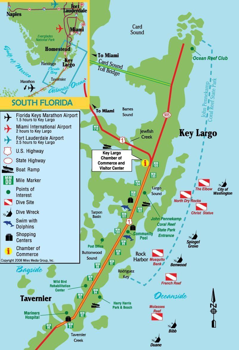 Key Largo, Florida #scubadivingsites   Travels In 2019   Pinterest - Florida Dive Sites Map