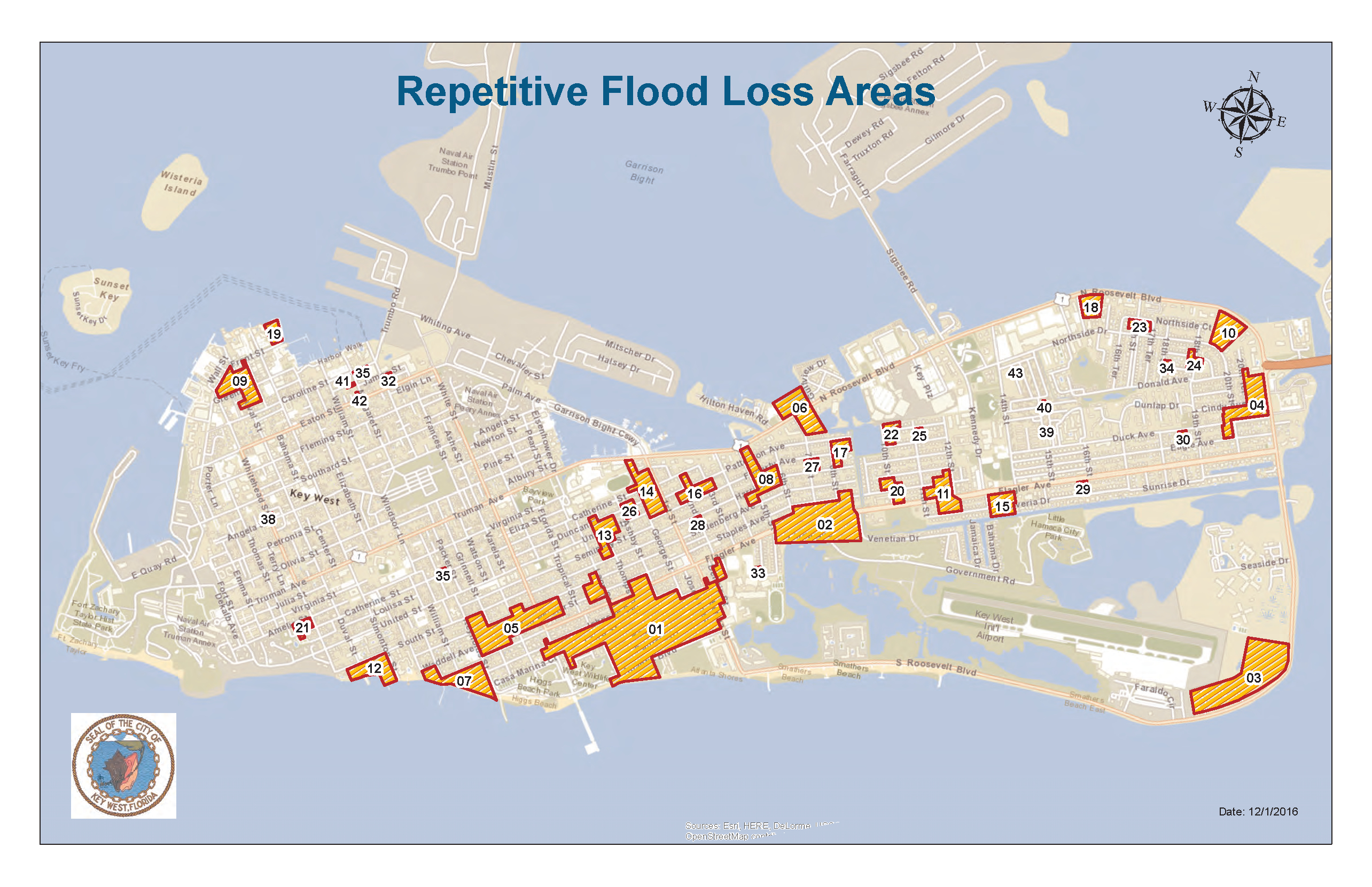 Key West, Fl / Historical Flooding - Florida Keys Flood Zone Map