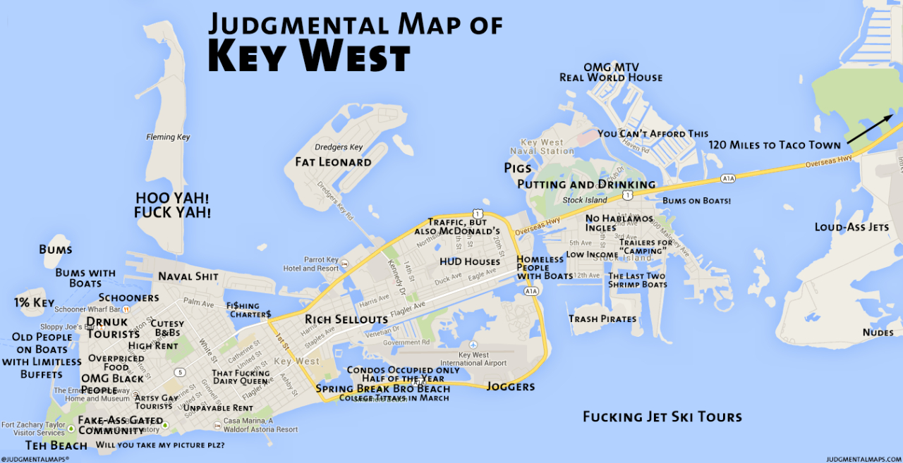 Key West Map - 19.16.paddlemania.co • - Street Map Of Key West Florida