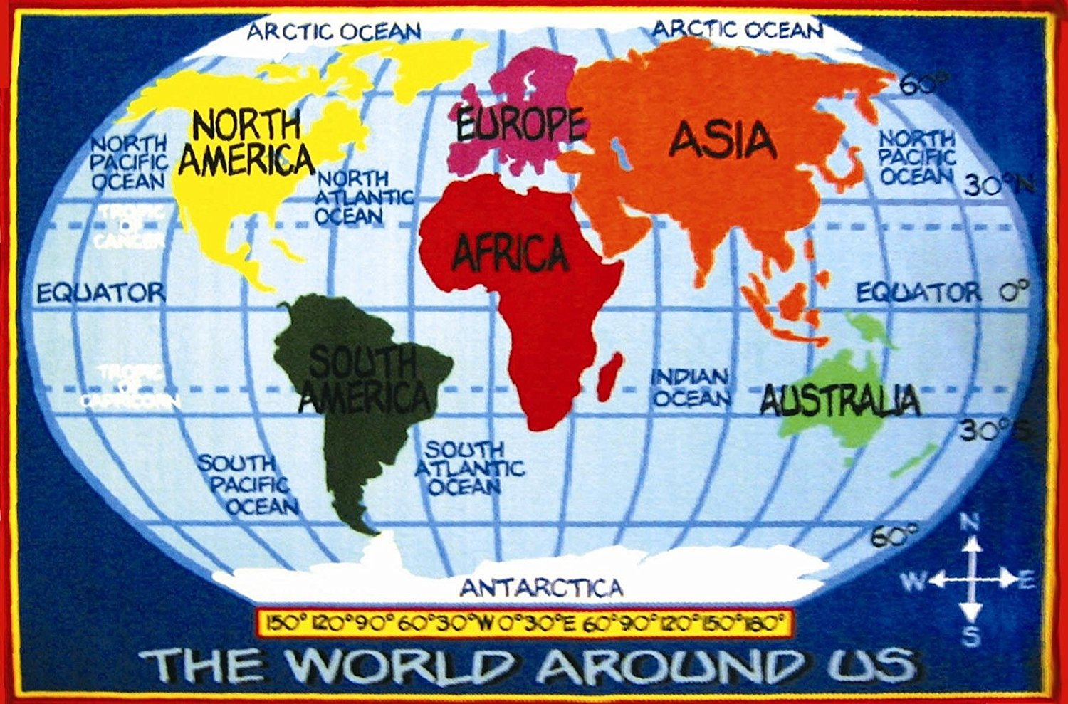 Kid Map Of World And Travel Information   Download Free Kid Map Of World - Children's Map Of The World Printable