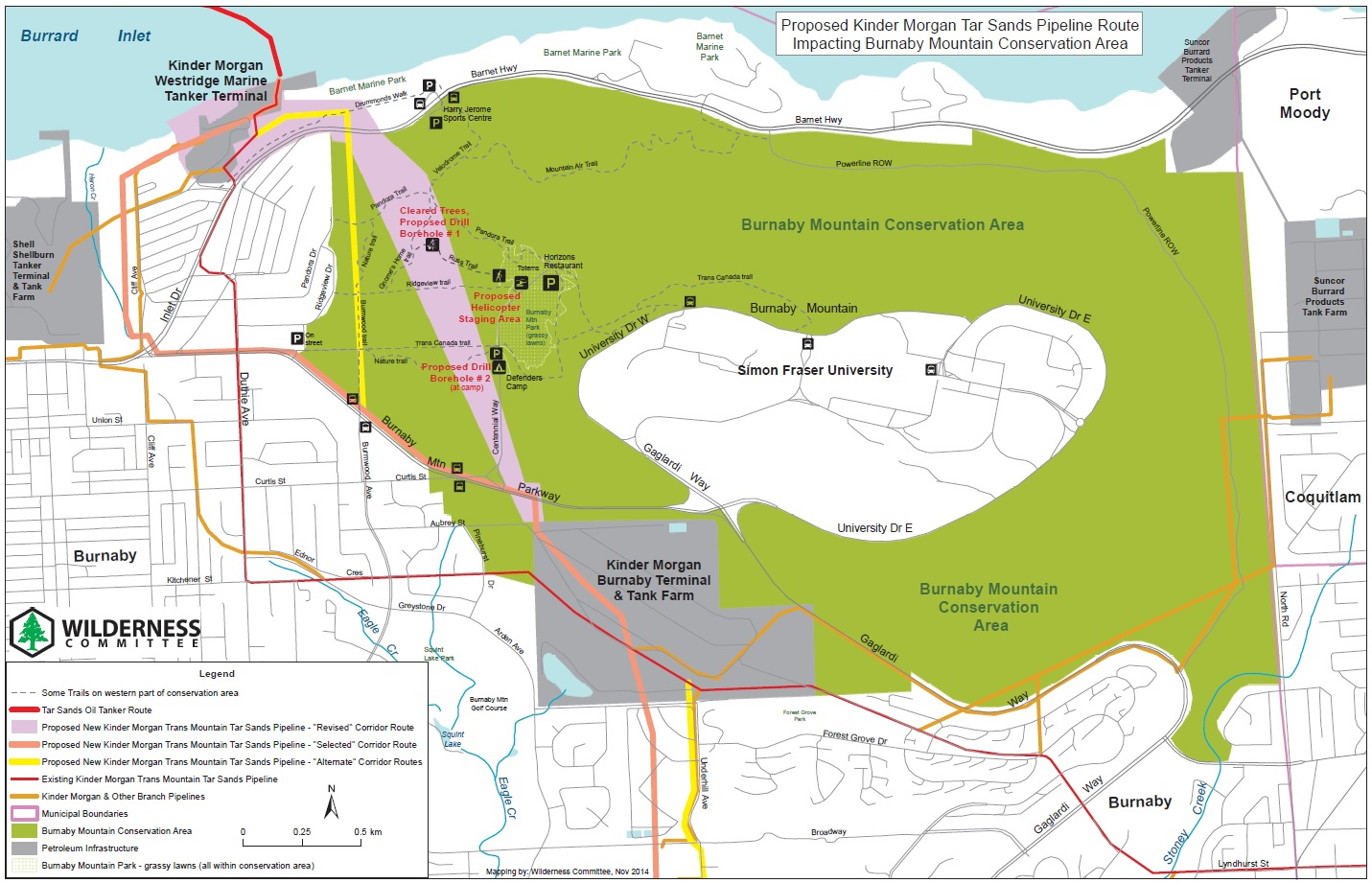 Kinder Morgan Pipeline Route Maps | Wilderness Committee - Kinder Morgan Pipeline Map Texas