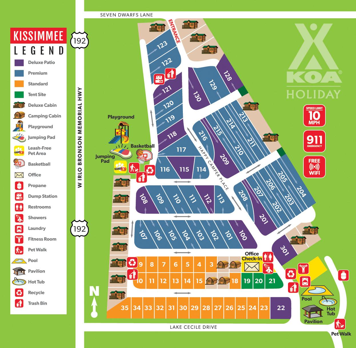 Kissimmee, Florida Campground | Orlando / Kissimmee Koa - Map Of Koa Campgrounds In Florida