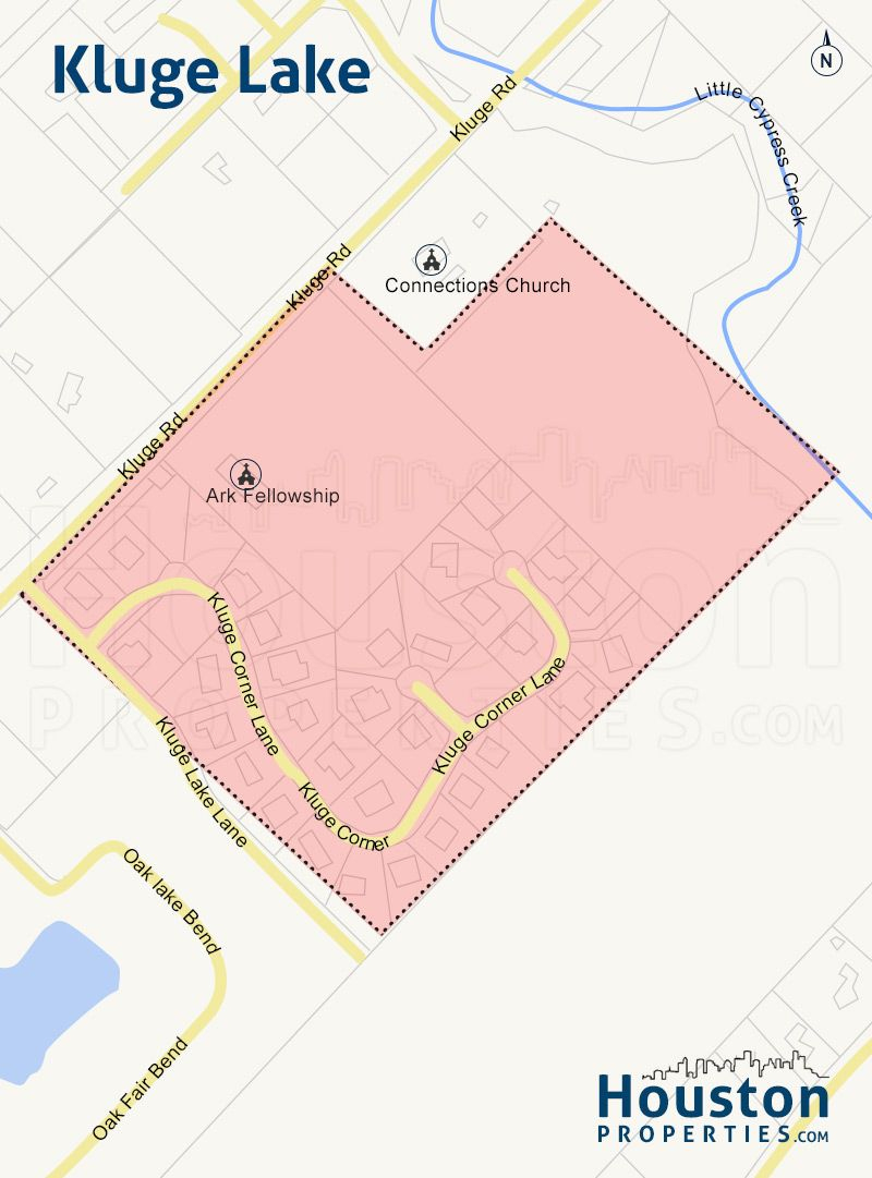 Kluge Lake Cypress Tx Neighborhood Map - Nestled Within The Area - Map Of Northwest Houston Texas