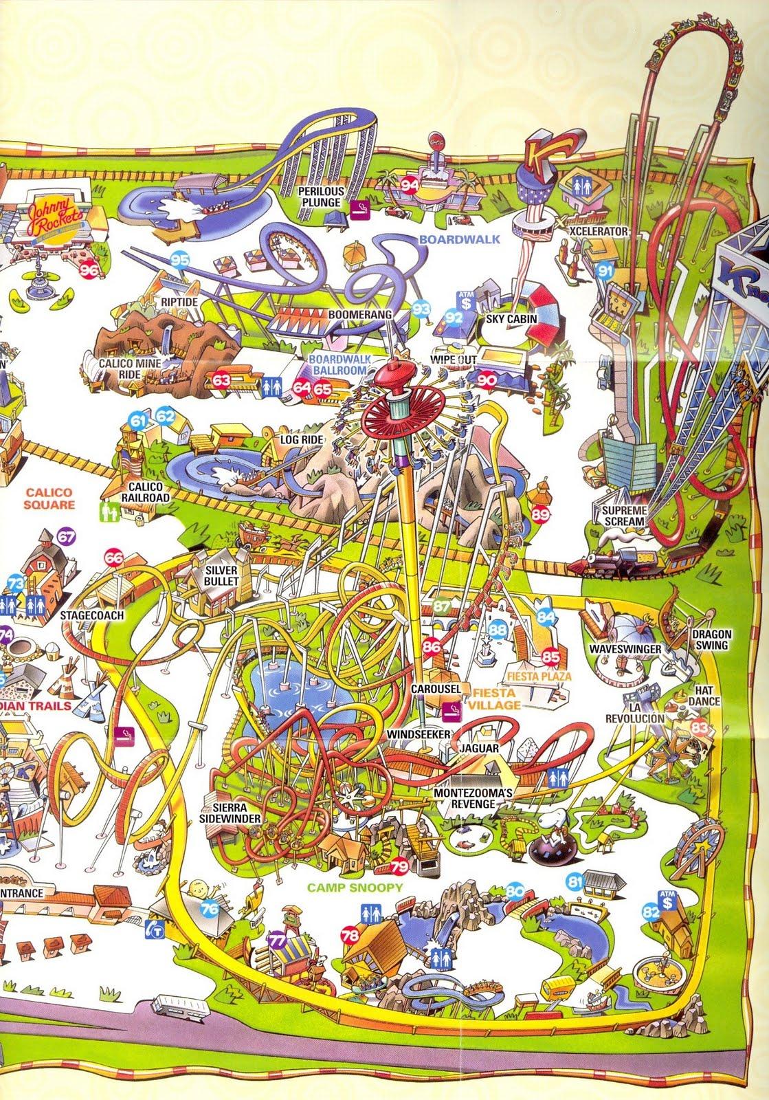Knotts Berry Farm California Map - Klipy - Knotts Berry Farm Map California