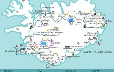 Kort Af Íslandi- Really Great Map! | Icelandic Roadtrip | Iceland – Printable Road Map Of Iceland