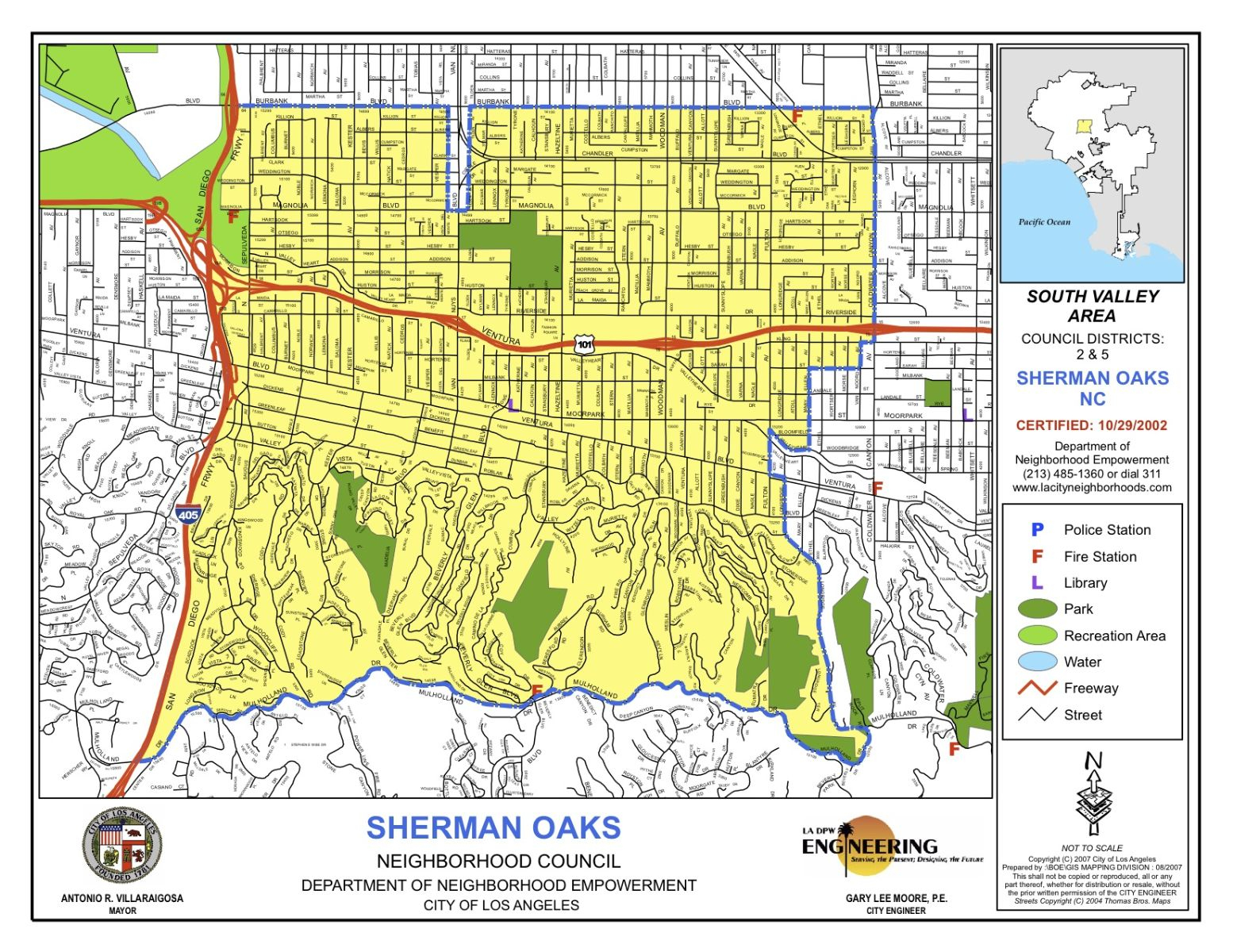 La Council Maps California State Map Where Is Sherman Oaks - Sherman Oaks California Map