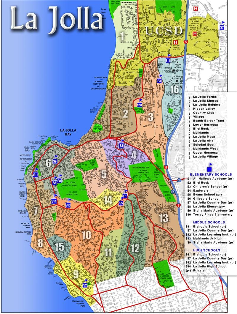 La Jolla Map | La Jolla, Ca - Luxury Real Estate | Pinterest | La - La Jolla California Map