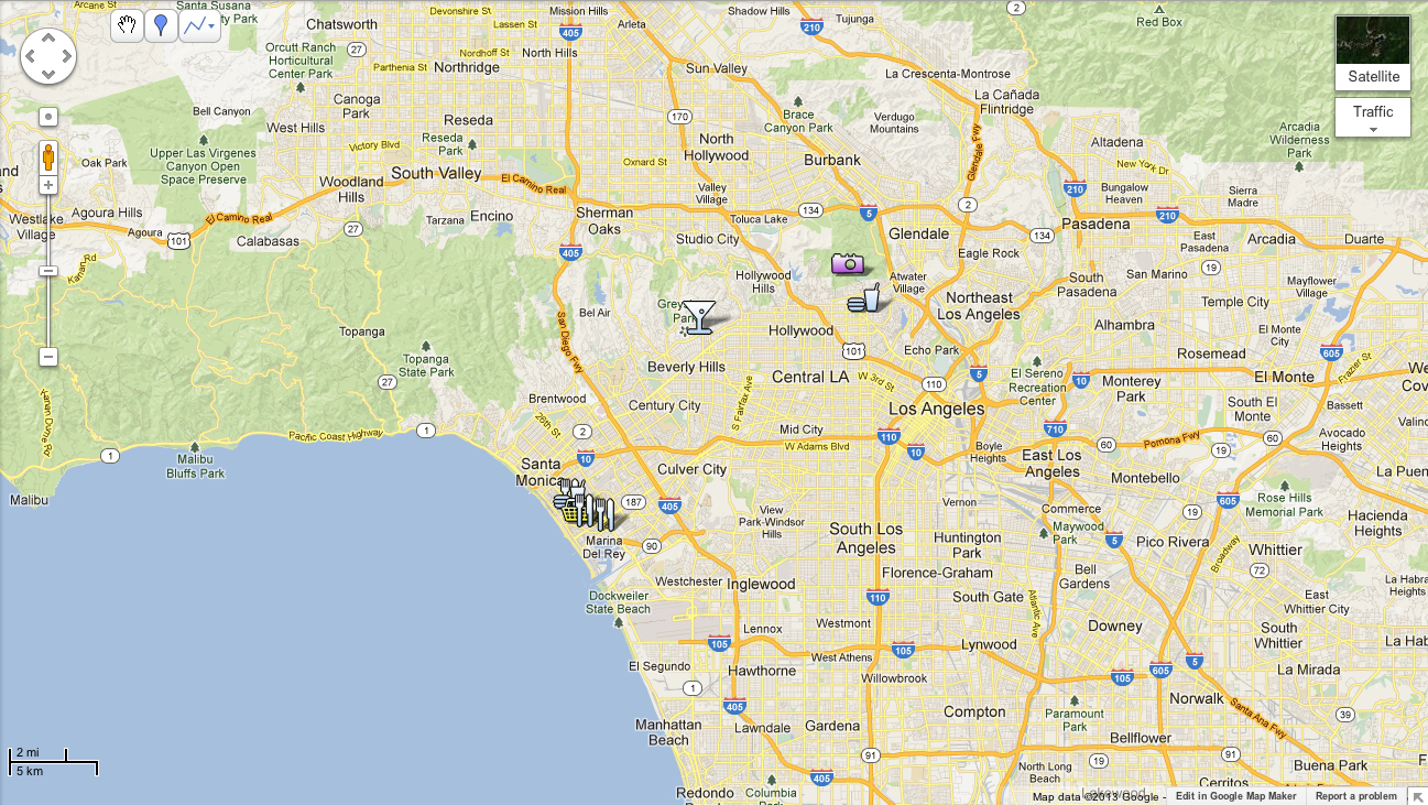 La Map Map Outline Google Maps Los Angeles California - Klipy - Google Maps Los Angeles California