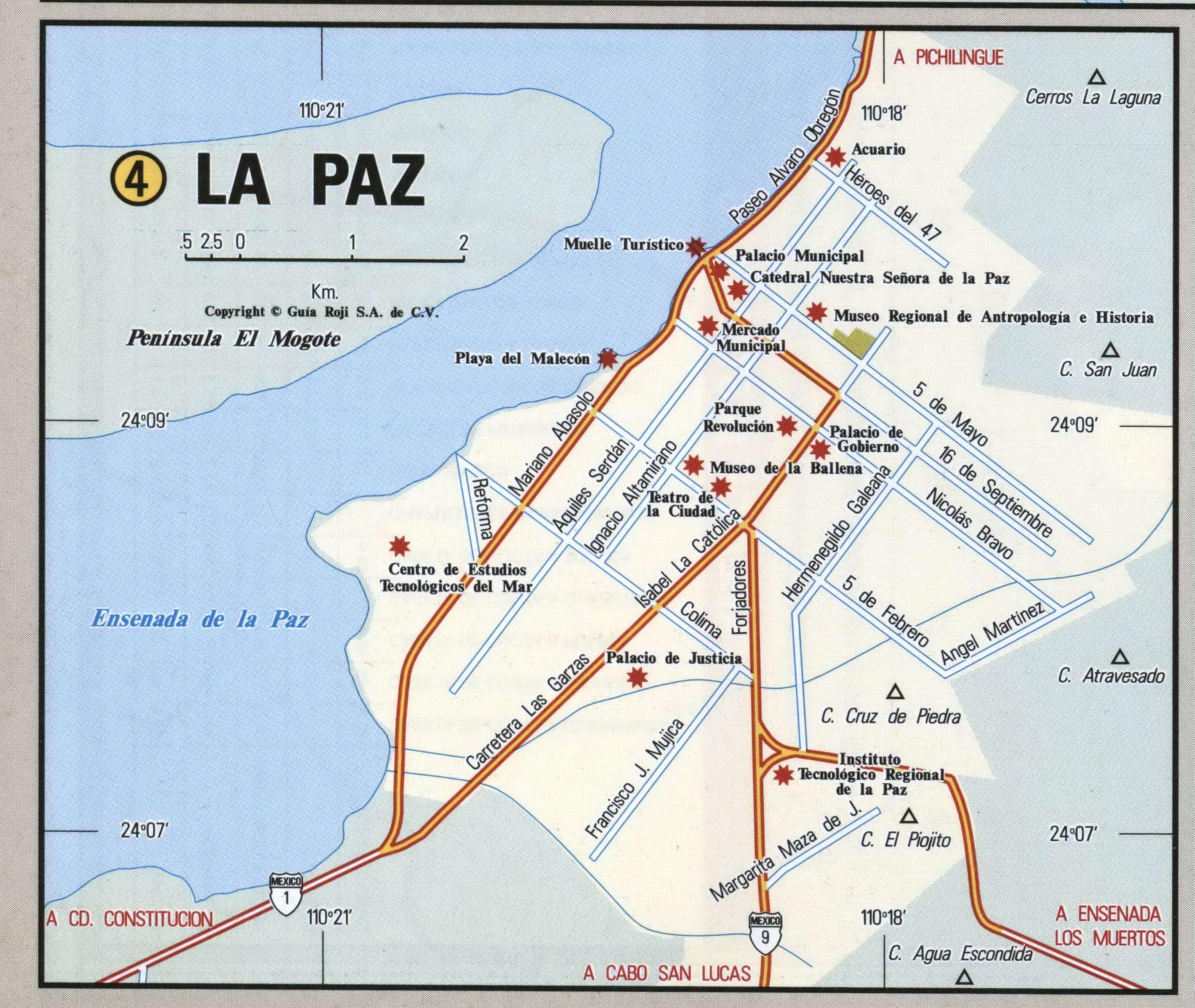 La Paz Baja California Map - Klipy - La Paz Baja California Map